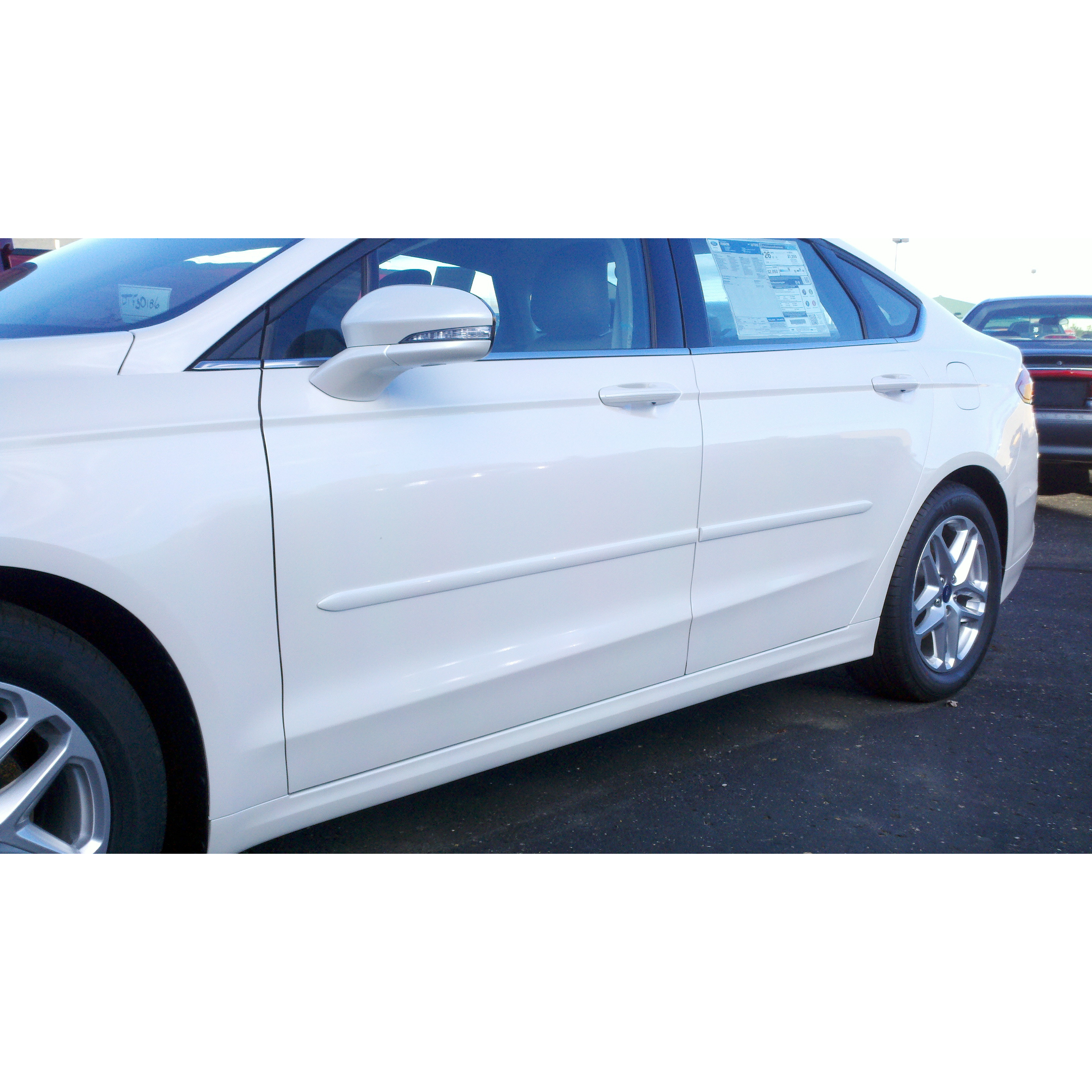 Ford Fusion 2013 Painted Body Side Moldings Spoiler And