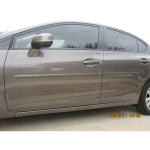 Honda Civic 4 Door 2012-2016 Painted Body Side Moldings