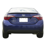 Toyota Corolla Factory Style Spoiler fits the 2014 - 2019